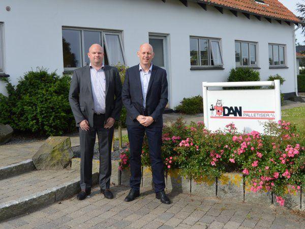 Efter Bilas opkøb af Dan Palletiser sidste år har palleteringsvirksomheden fået gang i hjulene igen. Her ses COO Simon R. Sørensen (t.v.) ved siden af Bila-CEO Jan Bisgaard Sørensen.