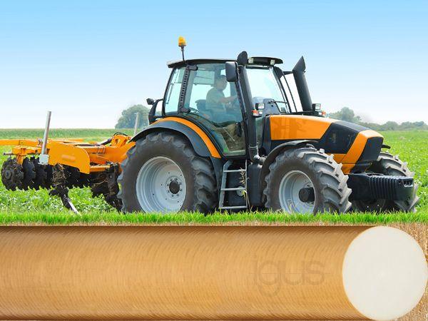 Iglidur Q2-stangmateriale har en høj slidbestandighed og trykstyrke i forbindelse med selv ekstreme belastninger, og er blandt andet egnet til brug i forbindelse med entreprenør- og agroteknologi, fremhæver Igus.