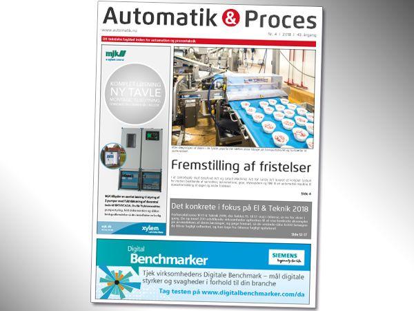Den seneste udgave er nu trykt og afhentet af distributørerne, der mandag påbegynder uddelingen af Automatik & Proces nummer 4/2018.