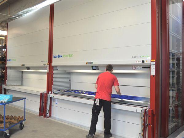 Lagerautomaterne har skaffet mere plads på arealet til pallereoler, da en række mindre reoler samtidig er blevet fjernet hos Hydra-Comp.