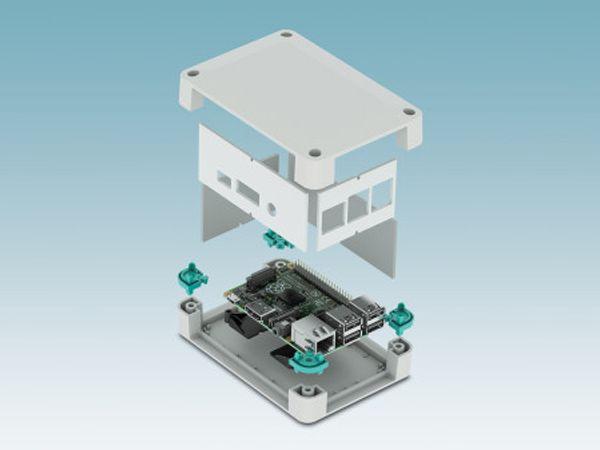 Phoenix Contacts seneste Rapsberry Pi-elektronikhuse beskytter mod mekaniske og fysiske påvirkninger.