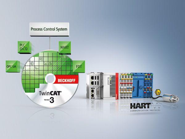 Styrings- og engineeringplatformen TwinCATunderstøtter fuldt ud HART-protokollen og har omfattende biblioteker til procesautomatisering.