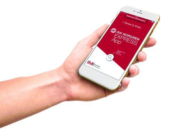 IMI Norgren Express App giver adgang til producentens katalog med over 100.000 varenumre direkte fra Smartphones.