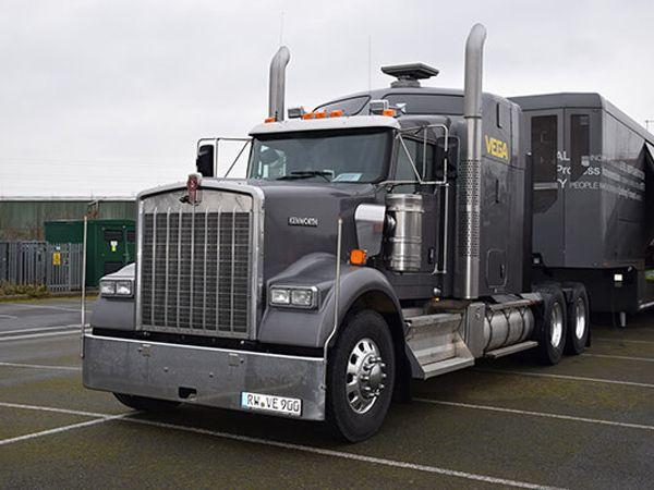Vega-trucken kører rundt i Danmark i dagen 14. til 25. maj, med stop otte steder.