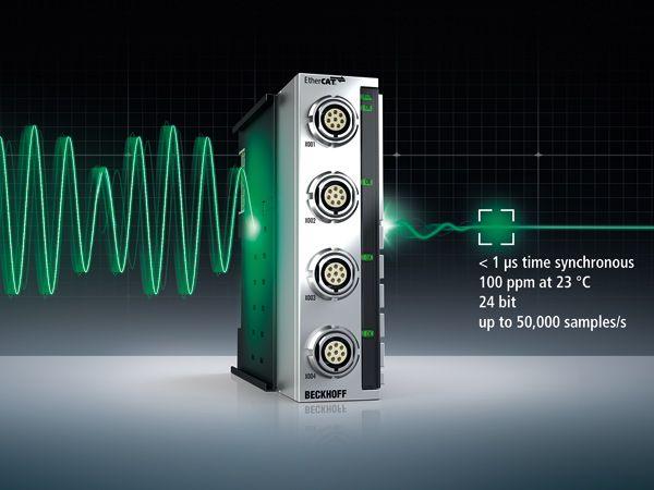 EtherCAT-modulerne foretager 50.000 målinger pr. sekund, indsamler kvalitetsdata og giver besparelser på op til 30 procent pr. installation, fremhæver Beckhoff Automation.