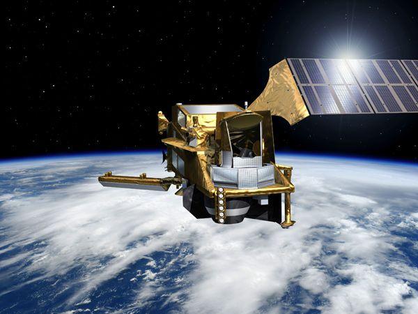 Afbildning af en af de såkaldte MetOp-satellitter (Foto: ESA)