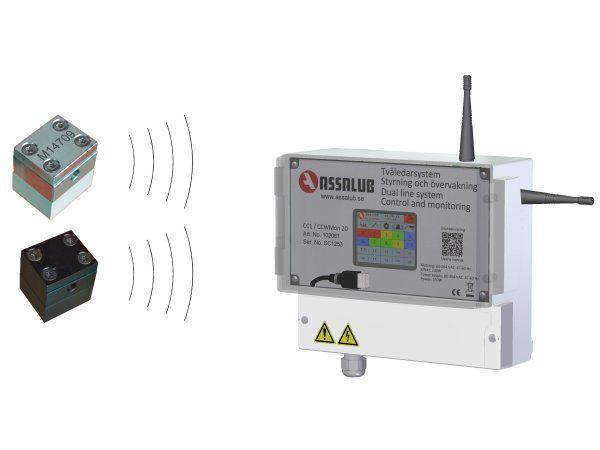 Med WLubeMon fra Assalub kan man trådløst overvåge at den rigtige mængde af smøring tilføres.