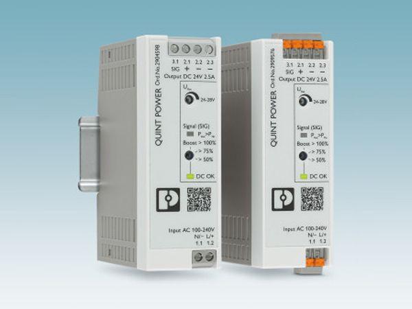 Den kompakte og kraftige strømforsyning Quick Point fra Pheonix Contact, er til applikationer i det nederste ydelsesområde.