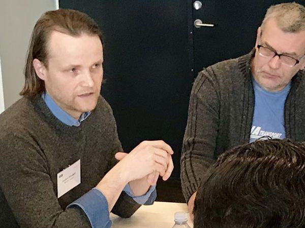 Anders Plovdahl (t.v.) er ansvarlig for procesoperatørlærlingene hos sukkerproducenten Nordic Sugar, der, som den ene af otte virksomheder, deltog i speeddatingarrangementet.