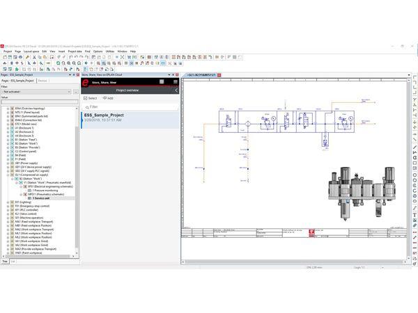 Et skematisk projekt delt mellem Eplan-brugere bliver tilgængeligt gennem en web-browser. Detaljer bag komponenter og apparater leveres let og gennemskueligt - de bliver vist ved at klikke på en komponent i den skematiske diagramtegning.
