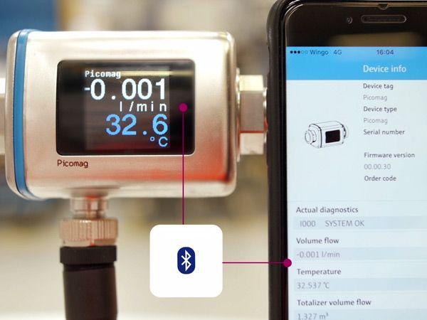 Med Endress+Hausers SmartBlue App tilbyder producenten sikker adgang til brugerens instrumenter.