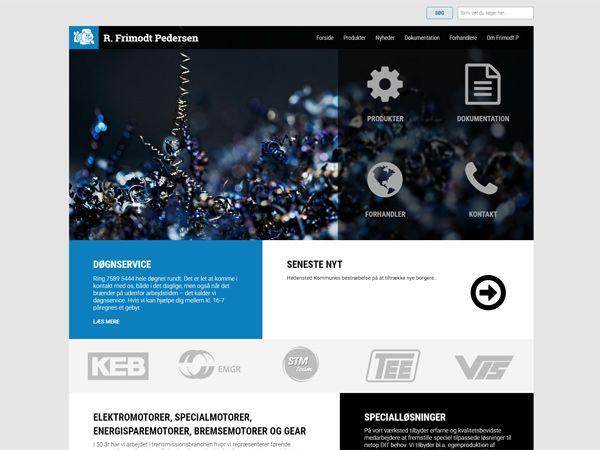 Den opdaterede hjemmeside har fra fronten adgang til at klikke videre til alle firmaets ydelser og produkter.