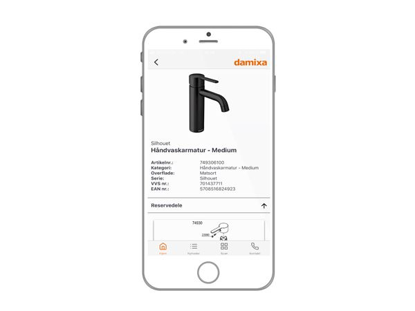 """App'en Damixa Pro er tænkt som """"en hjælpende hånd"""" til VVS´eren, der let kan være """"i lommen"""" på Smartphones."""