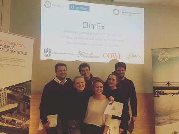 I København blev der konkurreret på smarte løsninger, og vinderen af årets Climathon blev Climex, der præsenterede en fritlagt å ved Grønningen som løsning på skybrudsproblemer.
