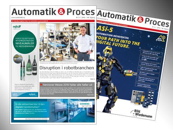 Mandag indledes omdelingen af det seneste Automatik & Proces, der blandt andet omfatter specieltemasider om robotteknologi.