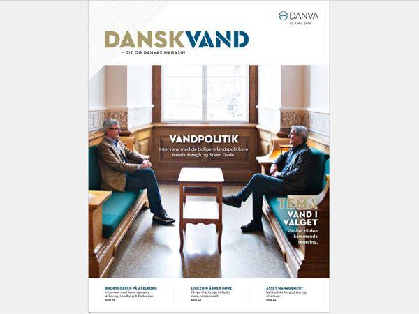 """Seneste udgave af Danskvand rummer temaet """"Vand i valget""""."""