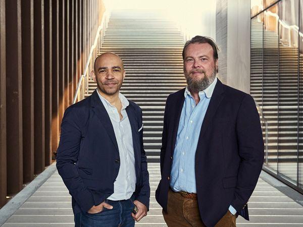 Administrerende direktør Michael Keissner (t.v.) og bestyrelsesformand og designer, Morten Kirk Johansen (t.h.), danner nu sammen innovations- og designvirksomheden Kirk, Hatch & Bloom. (Foto: PR)