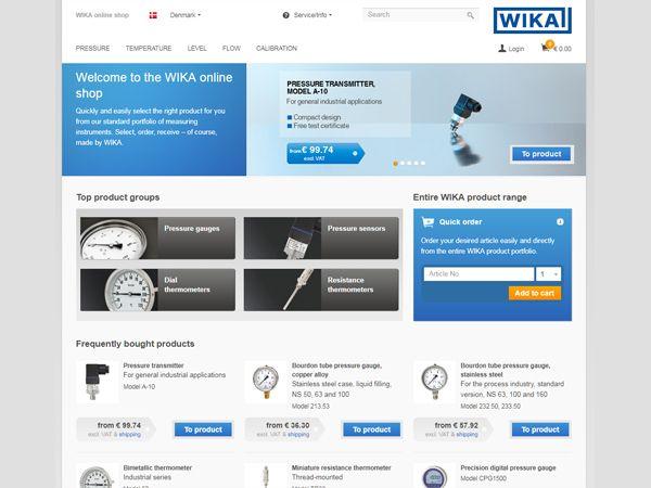 Så er WIKAs onlineshop i luften, og hos WIKA Danmark har man allerede fået de første danske E-kunder.