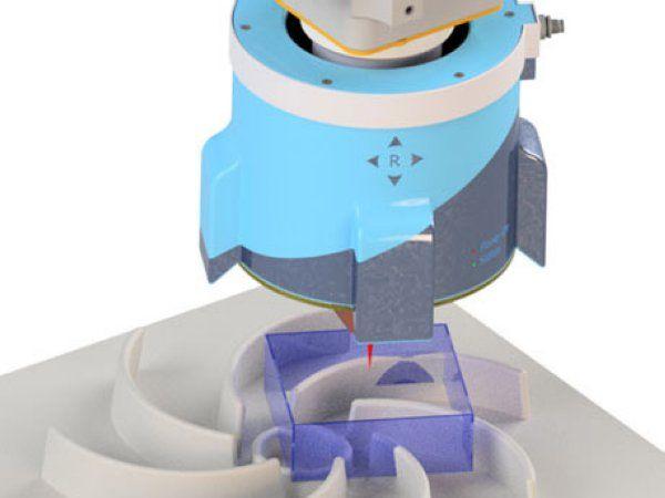 SensePRO-sensoren giver et 360 graders synsfelt for processtyring og kvalitetssikring af eksempelvis svejsning og limning med robot, fremhæver Fraunhofer-forskerne.