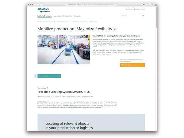 Med Simatic RTLS kan man få et fuldt overblik over hvor hver enkelt emne eller komponent befinder sig i fabrikken, fremhæver Siemens.