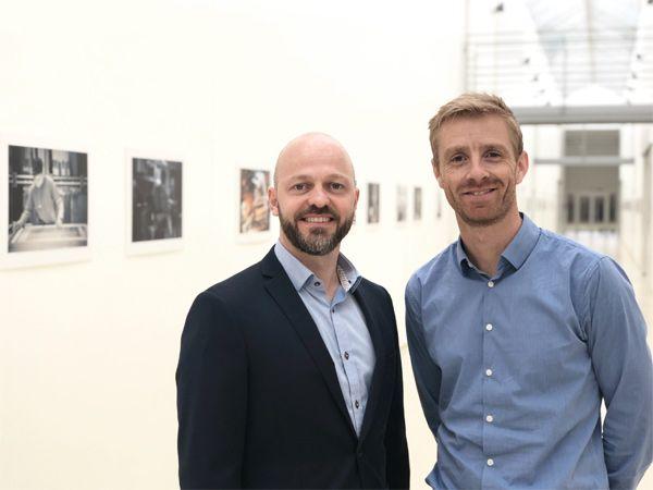 På EOT 2019 vil man kunne træffe Mekoprints Morten Kjær (t.v.), der her ses sammen med Tobias Holmgard, Flexible Foils.