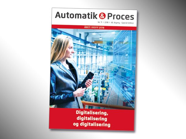 Digitalisering som begreb er et af de hovedtemaer fra 2018, som er i fokus i det aktuelle årsmagasin, som afslutter Automatik & Proces´ 43. årgang. I 2019 venter 12 numre.