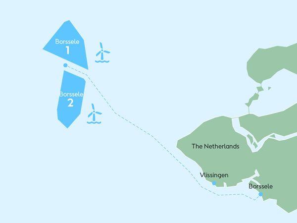 De indgåede millionkontrakter angår Ørsted-vindmølleparkerne Borssele 1 og 2.