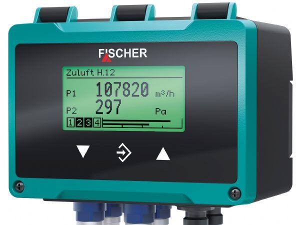 DE90-differenstryktransmitteren byder på mange anvendelsesmuligheder. Displayet har skiftende baggrundsfarve, der indikerer processens tilstanf i forhold til indlagte grænseværdier, anfører Buhl & Bønsøe.