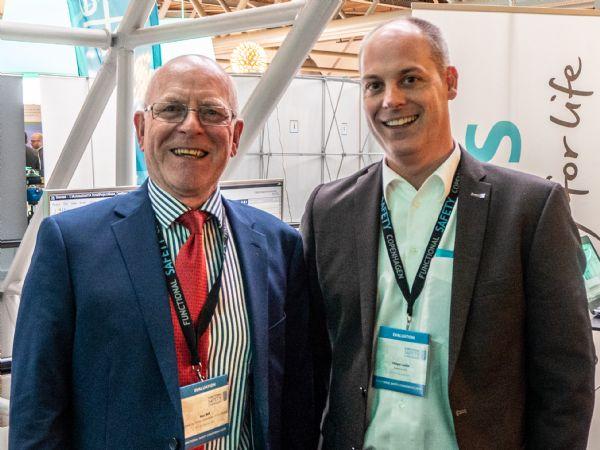 Blandt foredragsholderne på Functional Safety Copenhagen 2019 var blandt andre Ron Bell, der verden over er kendt som 'Mr. Functional Safety' (t.v.), ogSenior Safety Expert Holger Laible, Siemens AG (t.h.).