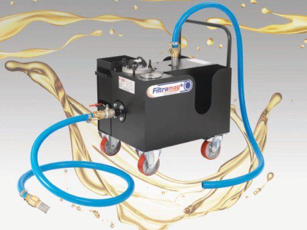 Filtramag+-magnetfiltret giver effektiv submikron filtrering og kan nem flyttes fra maskine til maskine, fremhæver AVS Danmark.