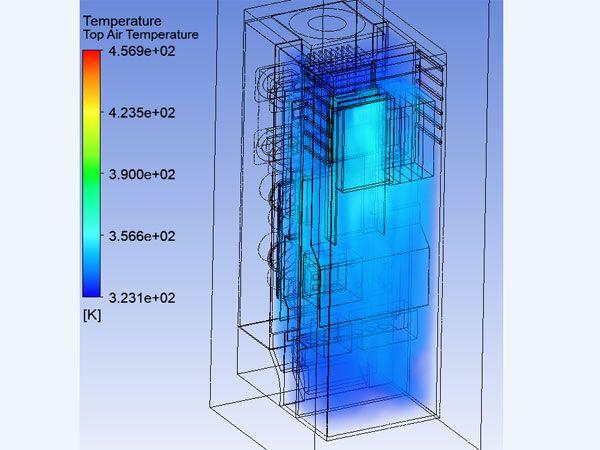 Simulering af det tiltag, der reducerede den indre lufttemperatur 'mest'.