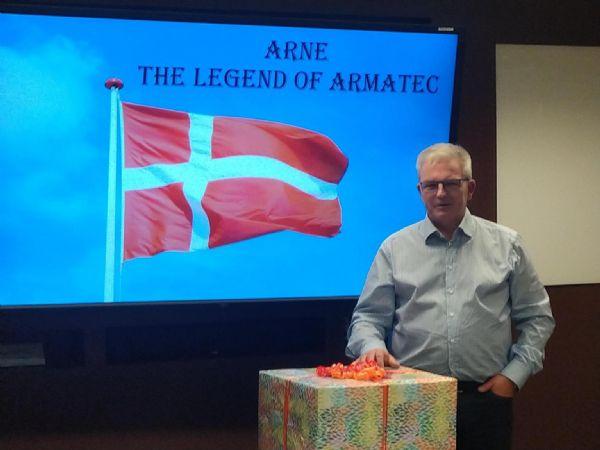 Mr. Armatec - og The Legend of Armatec - er fredag blevet fejret i firmaet for sin indsats som leder i koncernen.
