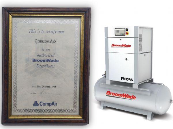 Helt tilbage i 1935 var Granzow autoriseret BroomWade-distributør i Danmark. Og nu indgår kompressorløsningerne atter i produktprogrammet.