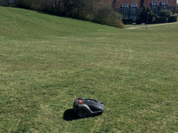 Brugen af robotter til professionel græspleje eksploderer.