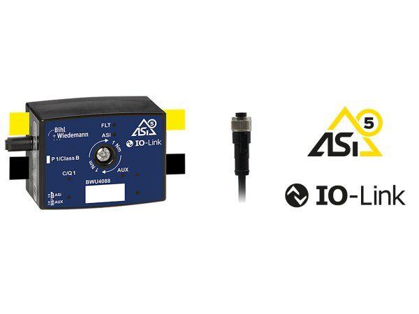 Bihl+Wiedemann er nu leveringsdygtige i denne ASi-5/IO Link-Master med 1 eller 2 porte. Her gælder det ASi-5-fordeler/IO Link-Master med 1 port, IP67.