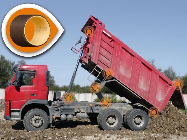 Igus´ lejer i Iglidur Q2E-materialet kan modstå selv meget ekstreme belastninger, fremhæver producenten. (Illustration: Igus GmbH)