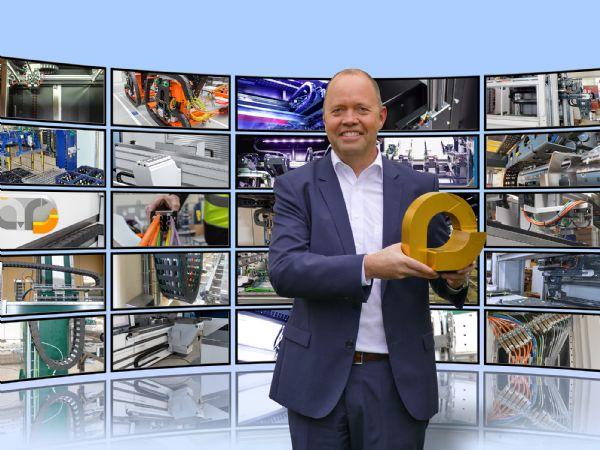 Leder Michael Blass, Igus-forretningsområdet for energikædesystemer, glæder sig til den 7. uddeling af hæderen for spændende anvendelser af energikæder, i form af Igus´   Vector Award.
