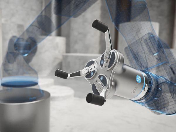 OnRobots 3FG15-gripperen har en maksimal slaglængde på 150 millimeter, og kan let håndtere flere emner, fremhæver Odense-firmaet.