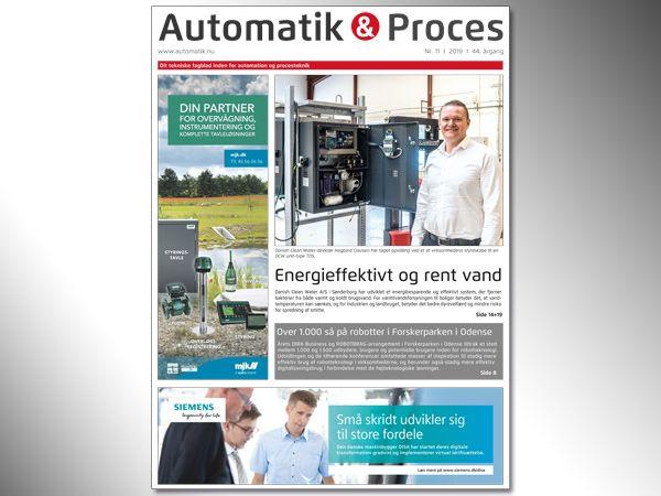 Automatik & Proces 11/2019 er nu afleveret til vore distributører, som klargør uddelingen hen over weekenden,  så modtagerne har deres udgave på mandag. Online-versionen kan læses allerede nu.