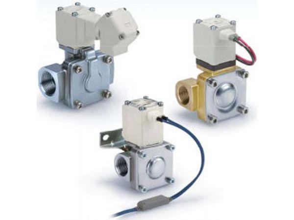 SMC´s aktuelt lancerede VXD-serie af 2-ports pilotstyret magnetventiler.