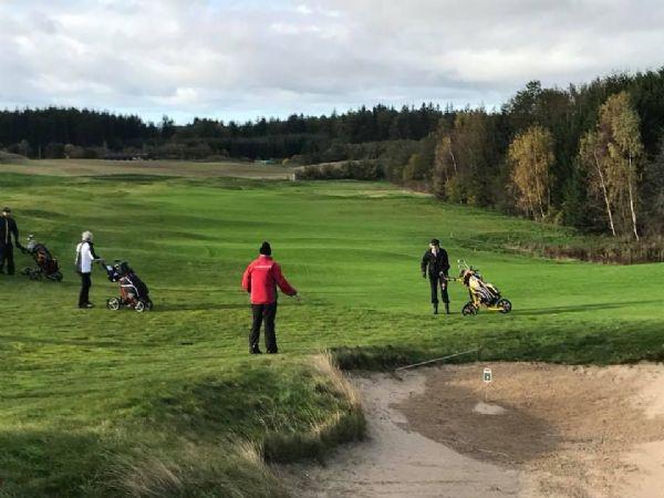 De idylliske rammer ved Langesø Golf Club lidt Nord for Odense danner rammerne om  årets BITVA-golfmesterskaber.