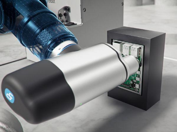 Momentstyring og indlejret akse gør det muligt for OnRobot-skruetrækkeren automatisk at beregne den hastighed og kraft, der kræves for ensartet og præcis skruning.