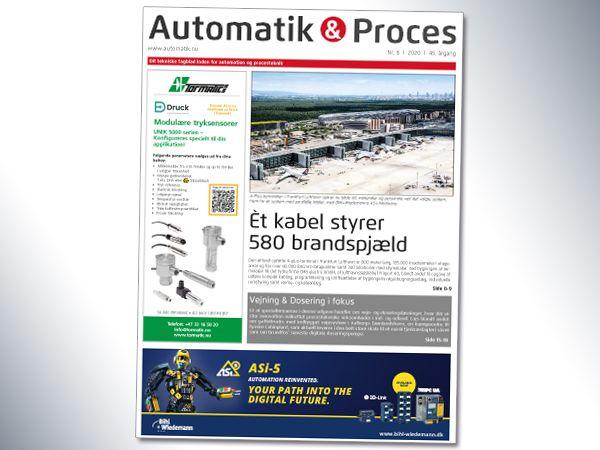 Den aktuelle udgave kommer vidt omkring, og byder blandt andet på en større artikel om AS-i-system til styring af 580 brandspjæld med ét kabel i den aktuelt opførte A-Plus-terminal i Frankfurt Lufthavn.