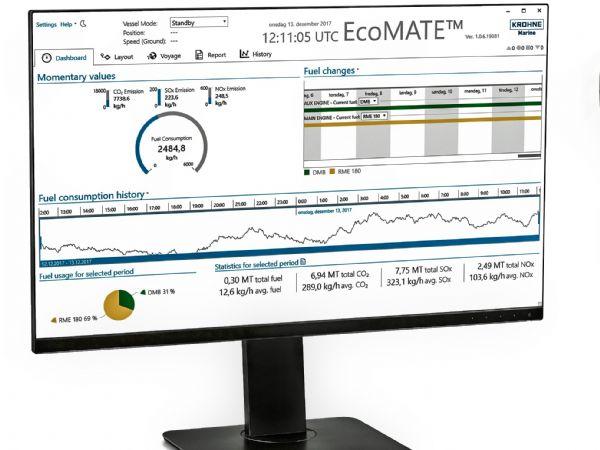 Et af de systemer Krohne Marine tilbyder er EcoMATE, der er et pålideligt system til overvågning af bunkring og brændstofforbrug ved hjælp af flowmålere i OPTIMASS-serien.Systemet overvåger og gemmer detaljerede oplysninger om brændstofforbrug og genererer rapporter, der muliggør en detaljeret oversigt.