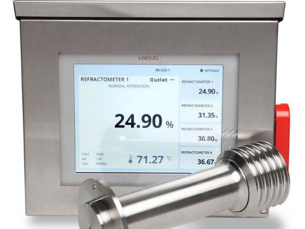 K Patents Brix-målere til procesovervågning og -kontrol, forhandles i Danmark af Lisco.
