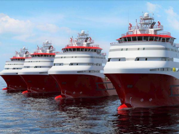 AUMA har leveret 2 gange 194 PROFOX-aktuatorer til forsyningsskibe til arbejde i Nordsøen.