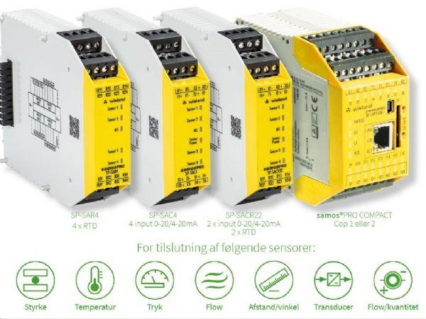 Samos Pro Compact-sikkerheds PLC'erne er med analoge moduler.