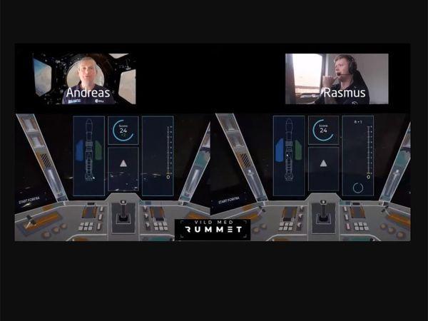 Åbningseventet blev indledt af uddannelses- & forskningsminister Ane Halsboe-Jørgensen, der sendte en virtuel raket afsted. Astronaut Andreas Mogensen (t.v.) dystede mod den professionelle counterstrike-gamer Rasmus 'raalz' Steensborg (t.h.) i en astronaut-test. Og der var oplæg af rumeksperter på DTU og konkurrencer med udgangspunkt i indholdet på Vild med Rummet.