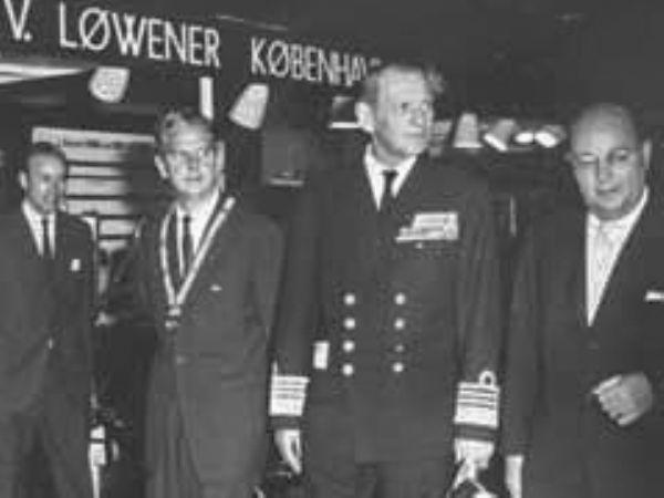 V. Løwener's stand fik besøg af kong Frederik tilbage i 1963.