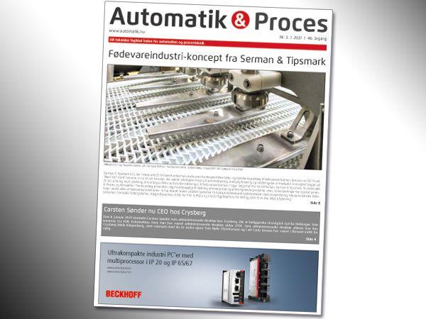 Mandag i uge 11 indledes omdelingen af Automatik & Proces 3/2021. Online-versionen er tilgængelig allerede nu.